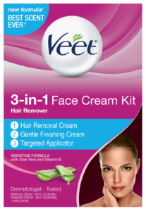 veet hair removal cream for face